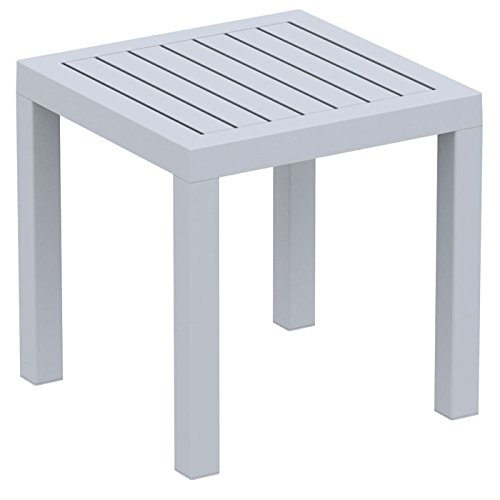 Ocean Square Side Table Silver Photo