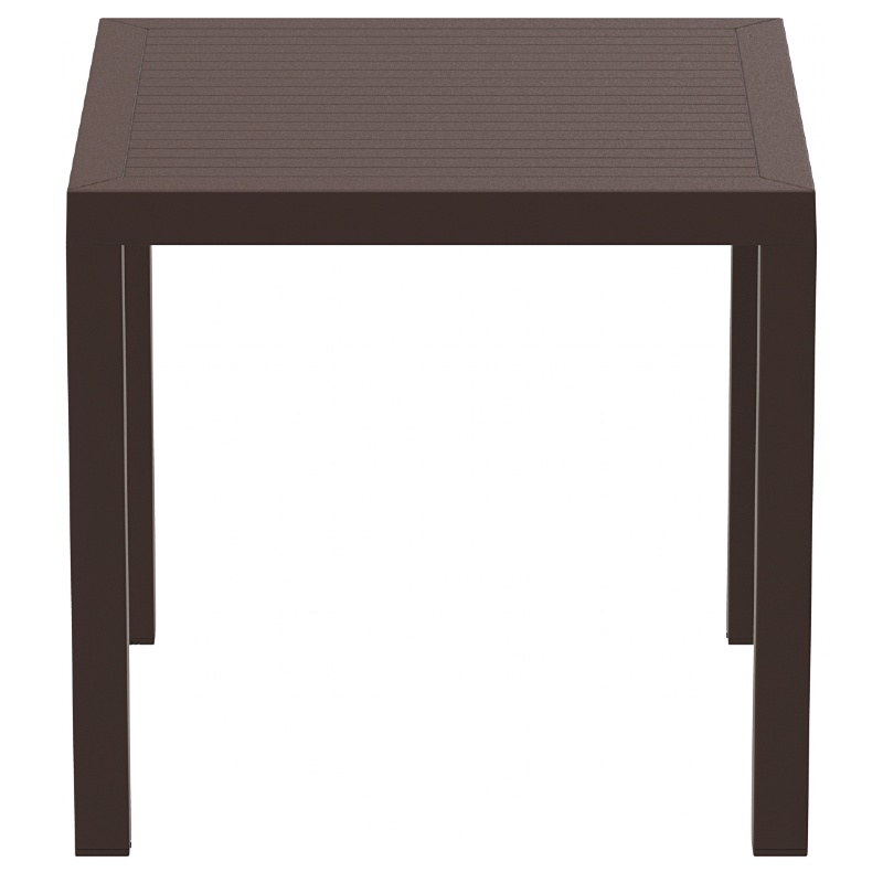 Square Dining Table Brown Photo