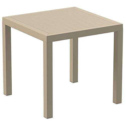 Ares Resin Square Dining Table Dove Grey Picture 303