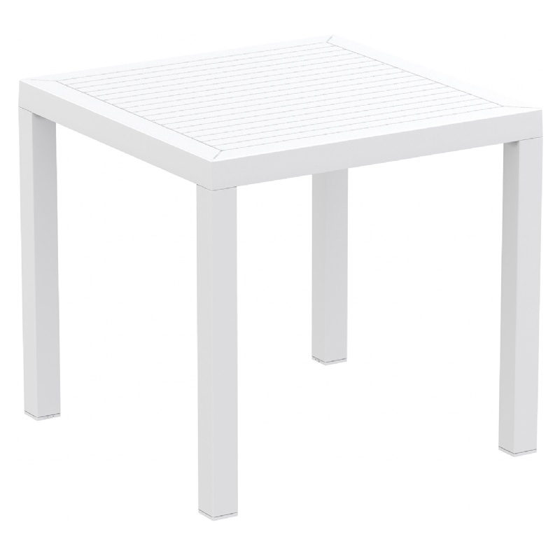 Square Dining Table White Photo