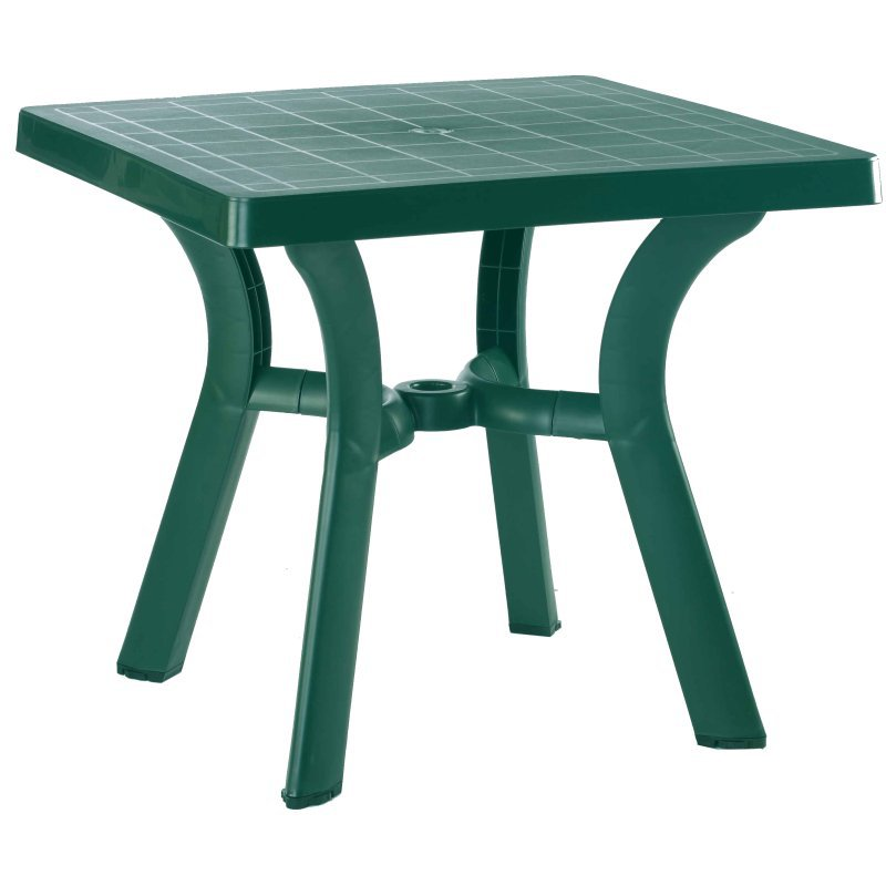 Viva Resin Square Dining Table Green H D  Picture 702