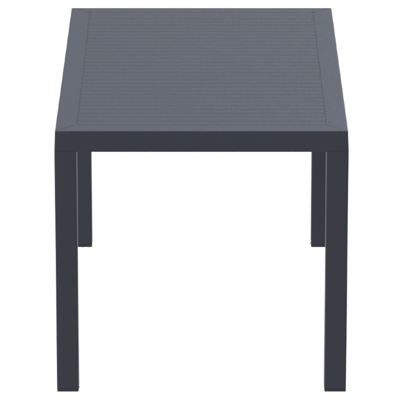 Ares Resin Rectangle Dining Table Dark  Photo