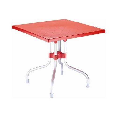 Red Square Folding Table Photo
