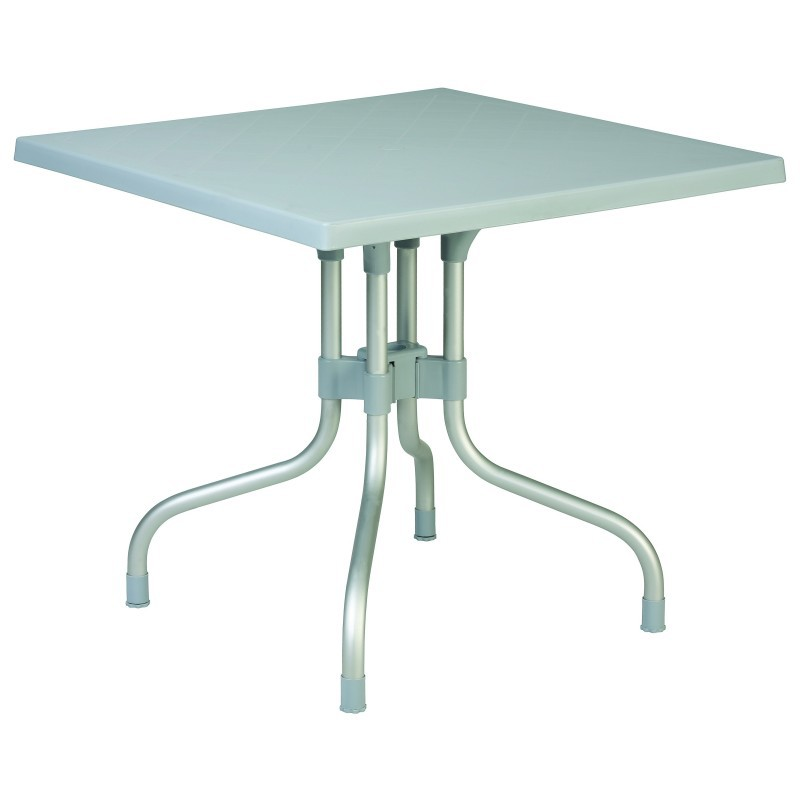Silver Grey Square Folding Table Photo