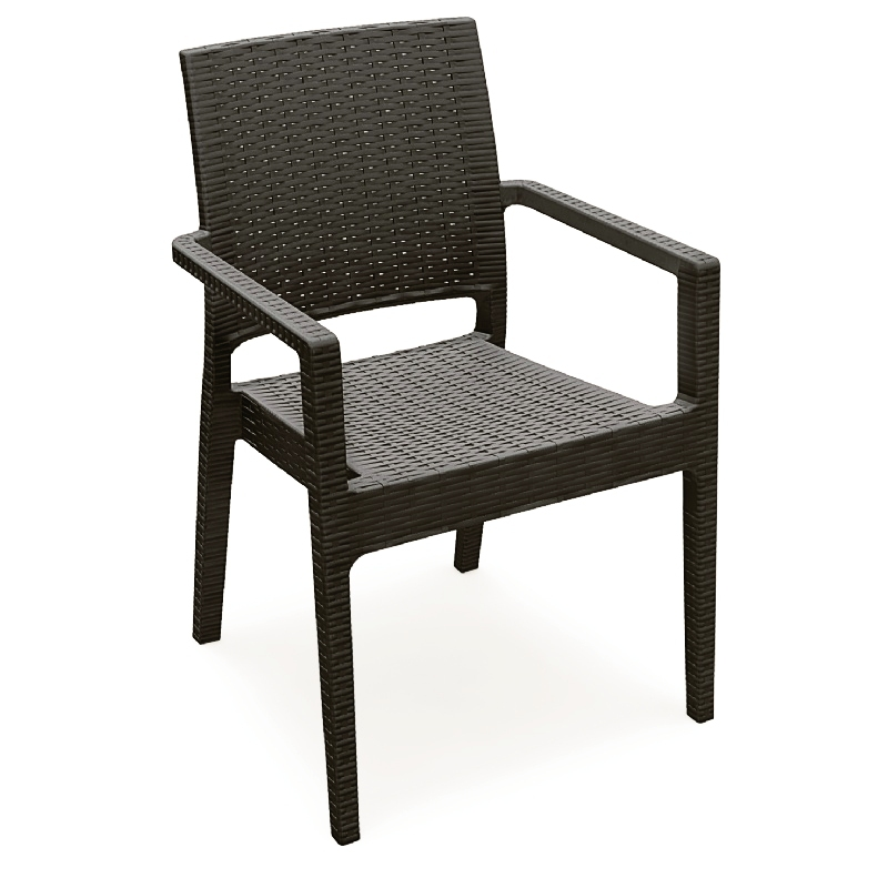 Dining Arm Chair Brown Photo
