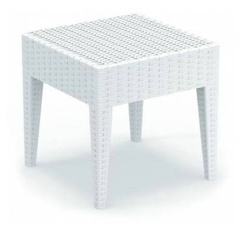 Miami Square Resin Side Table H D  Picture 699