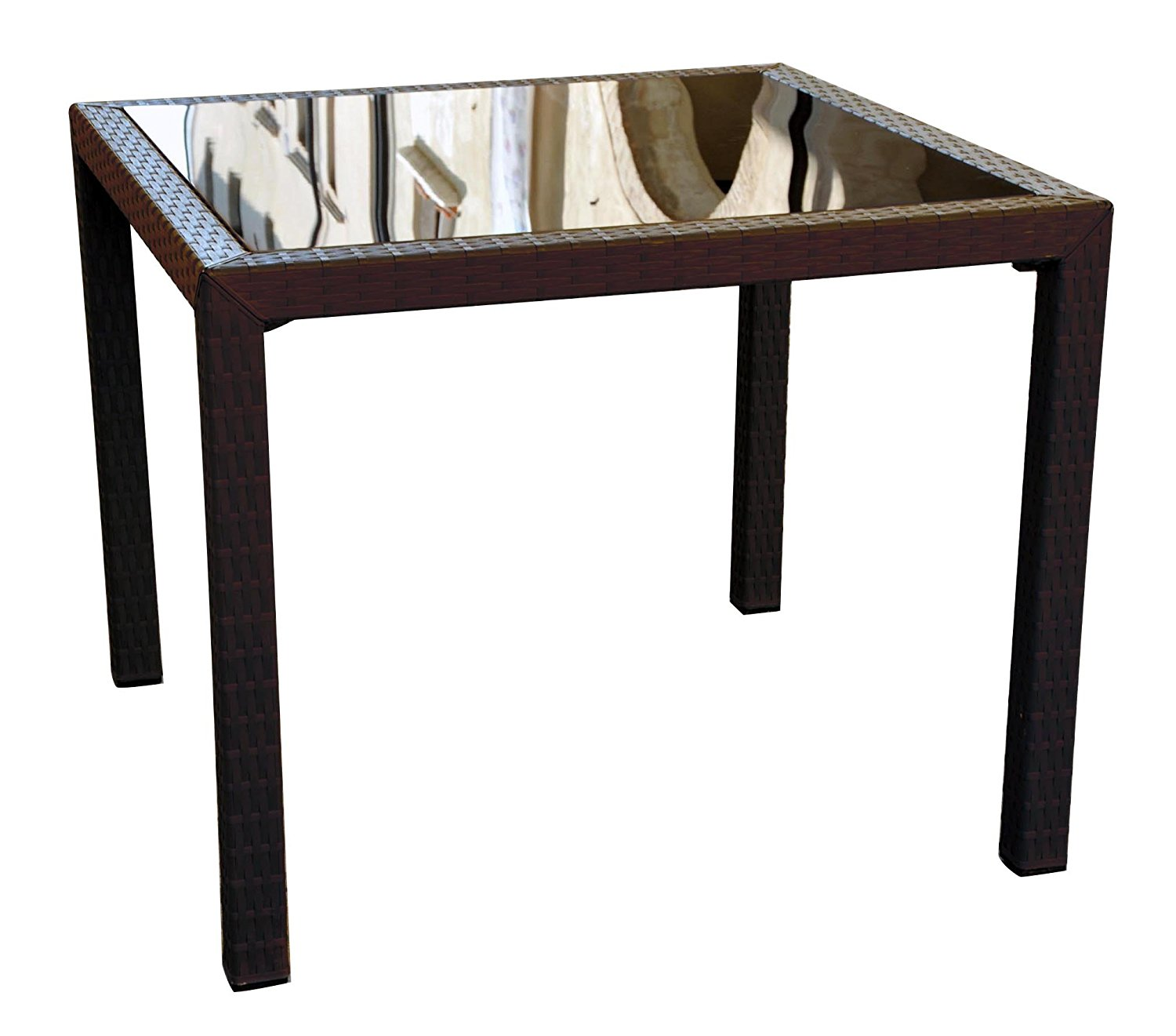 Miami Resin Wickerlook Square Dining Table  Image 832