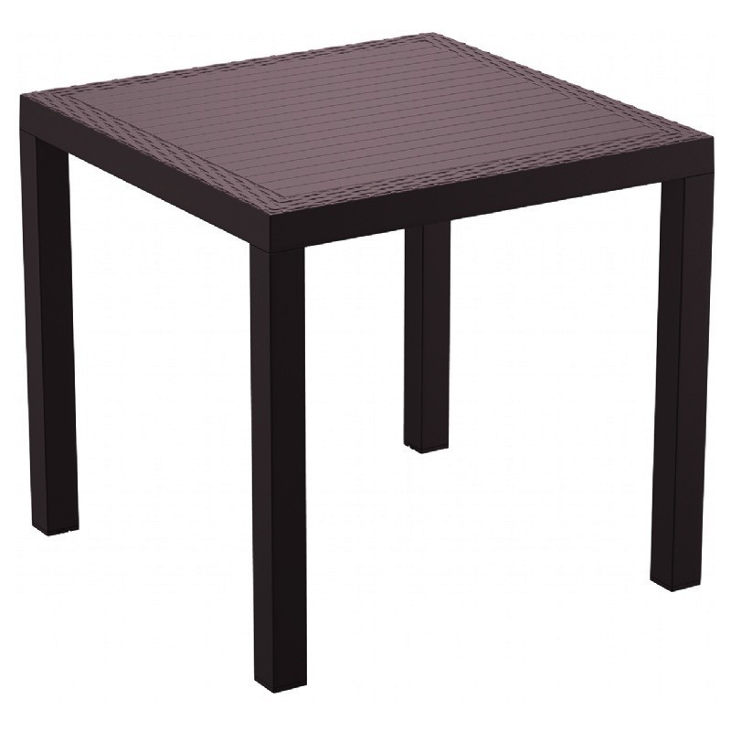 Rectangle Dining Table Brown Photo