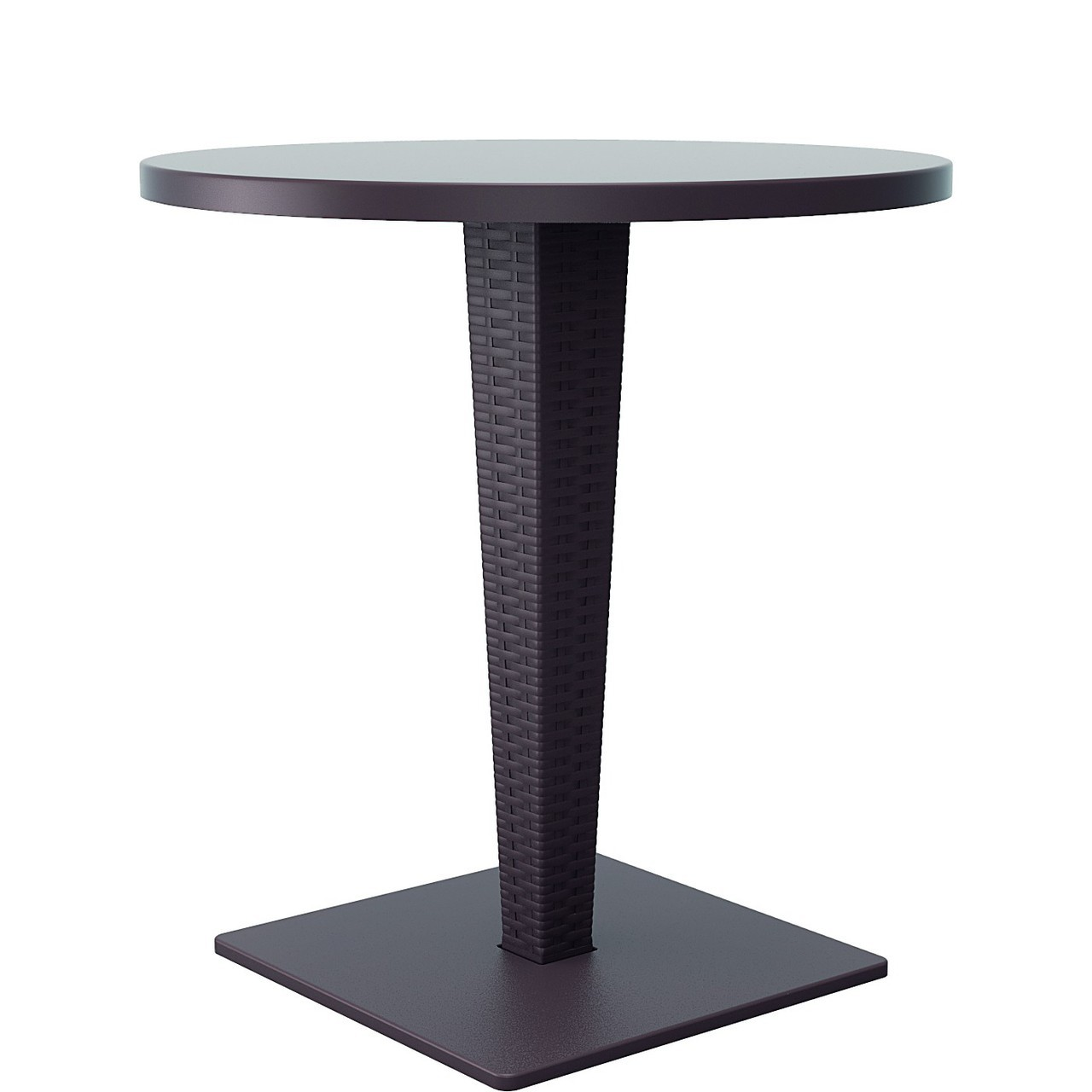 Round Top Dining Table Brown Photo