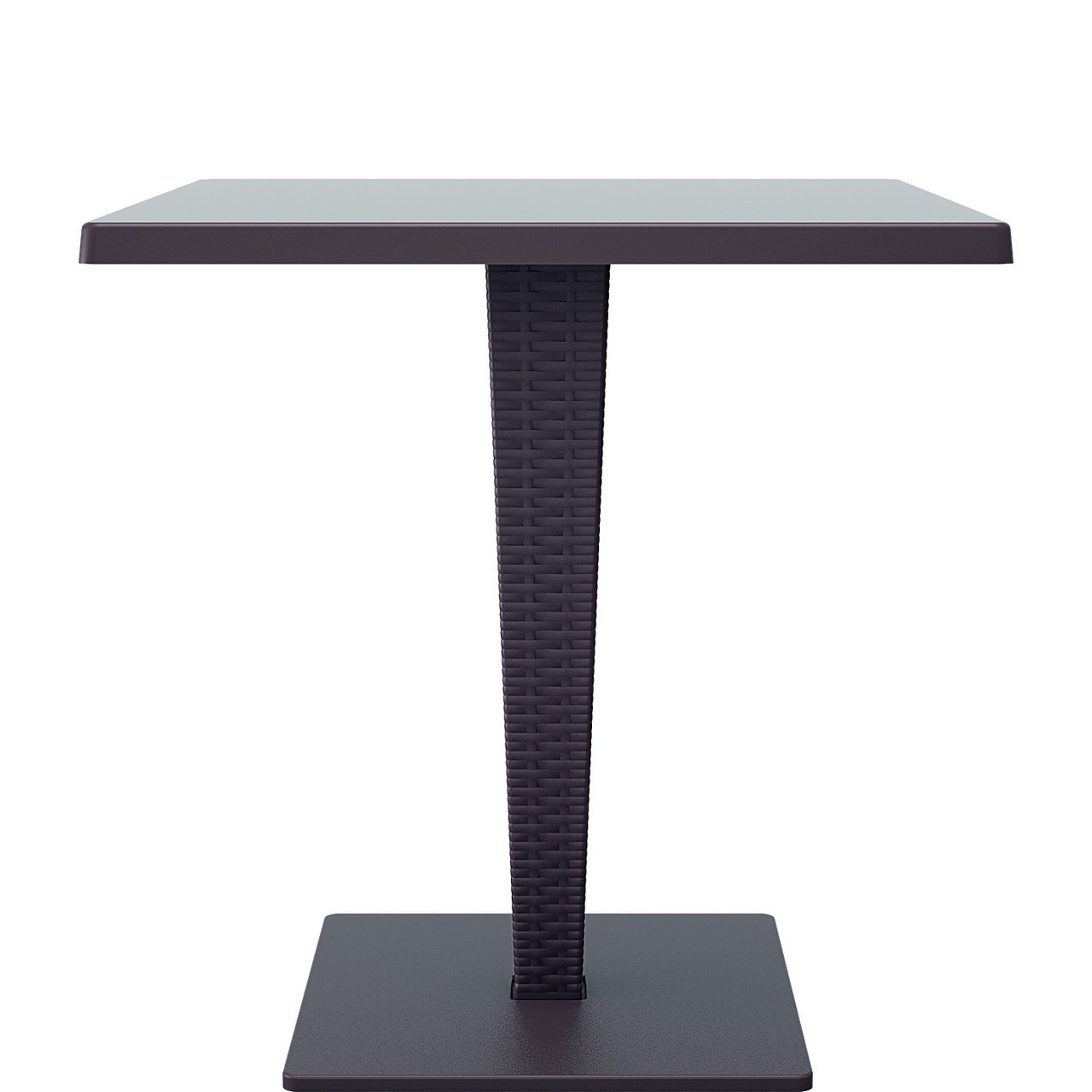 Square Top Dining Table Brown Photo