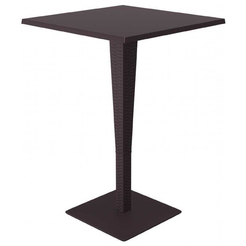 Square Top Bar Height Table Brown Photo