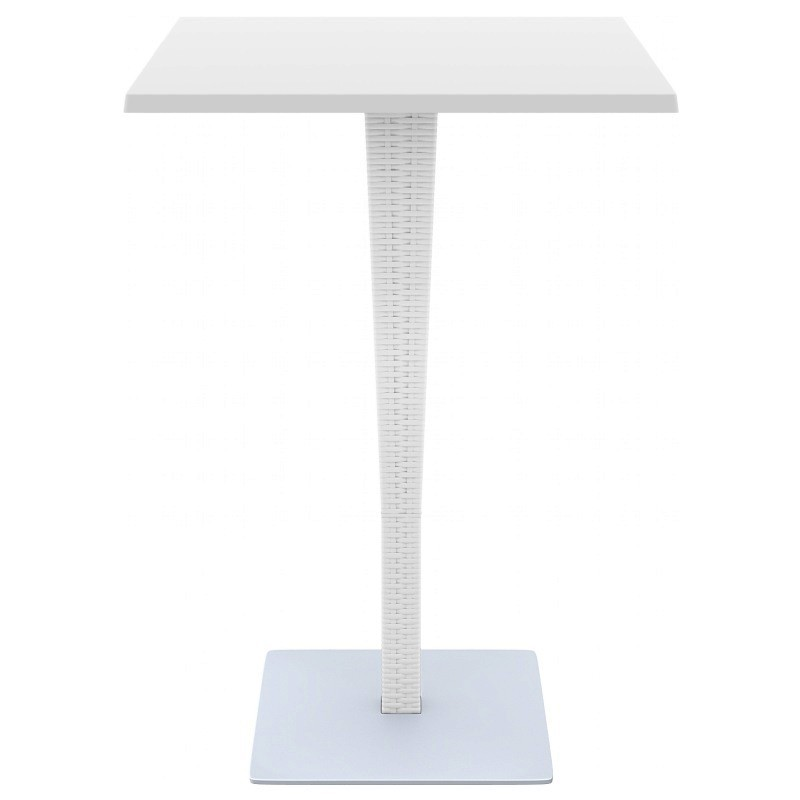Square Top Bar Height Table White Photo