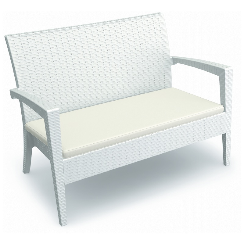 Loveseat White Photo