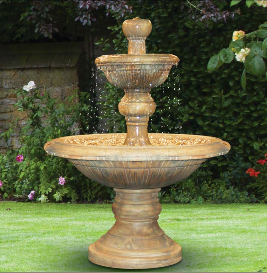 Cast Stone Two Tier Traviata Water Fountain Image 20