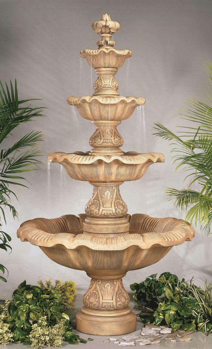 Stone Four Renaissance Fountain Studio Photo
