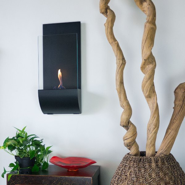 Flame Torcia Wall Mounted Fireplace Photo