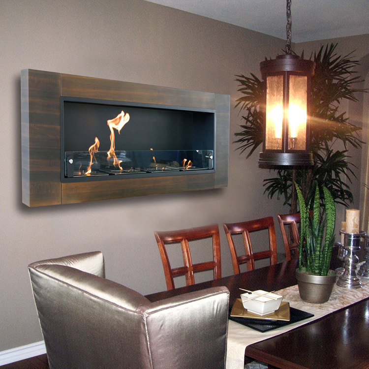 Nu Flame Finestera Quattro Wall Mounted Bio Ethanol Fireplace High Photo