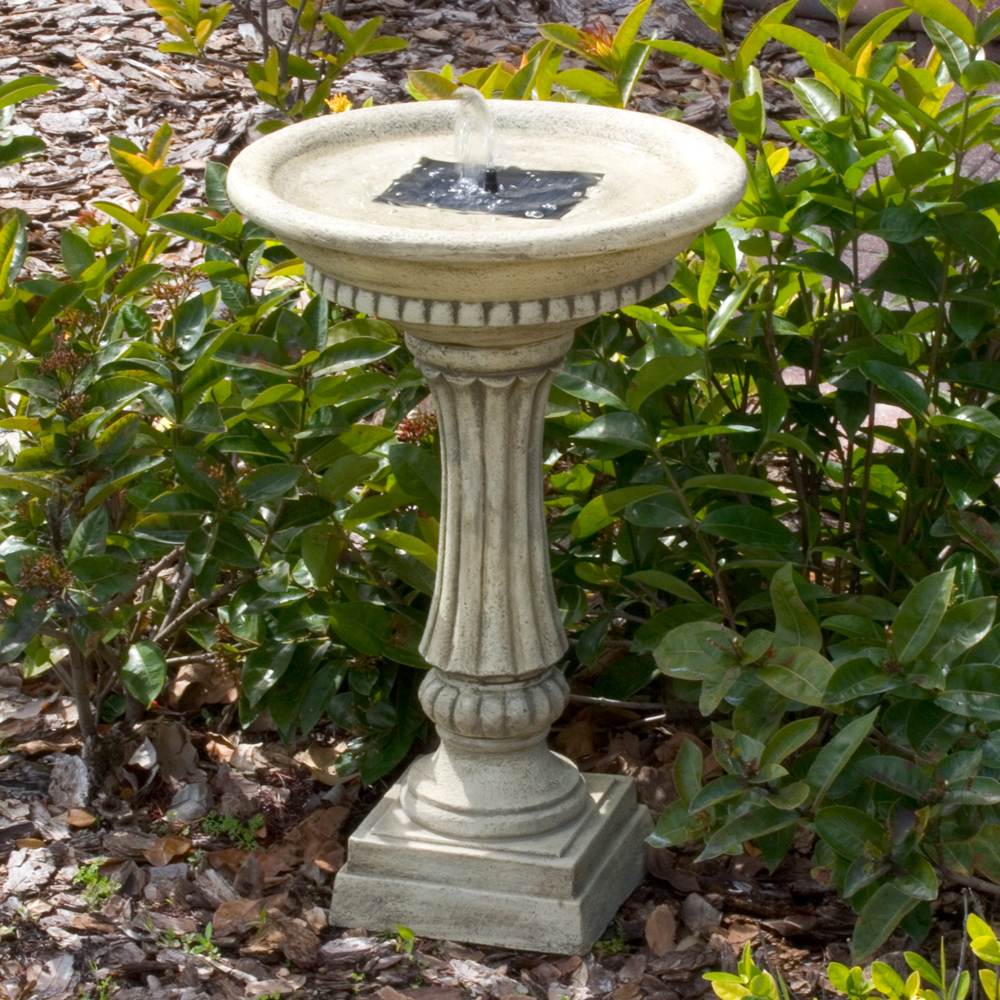 Ashbourne Solar Birdbath Fountain Picture 374