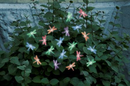 Smart Solar 3706MR20 Solar Light String with Dragonfly Covers