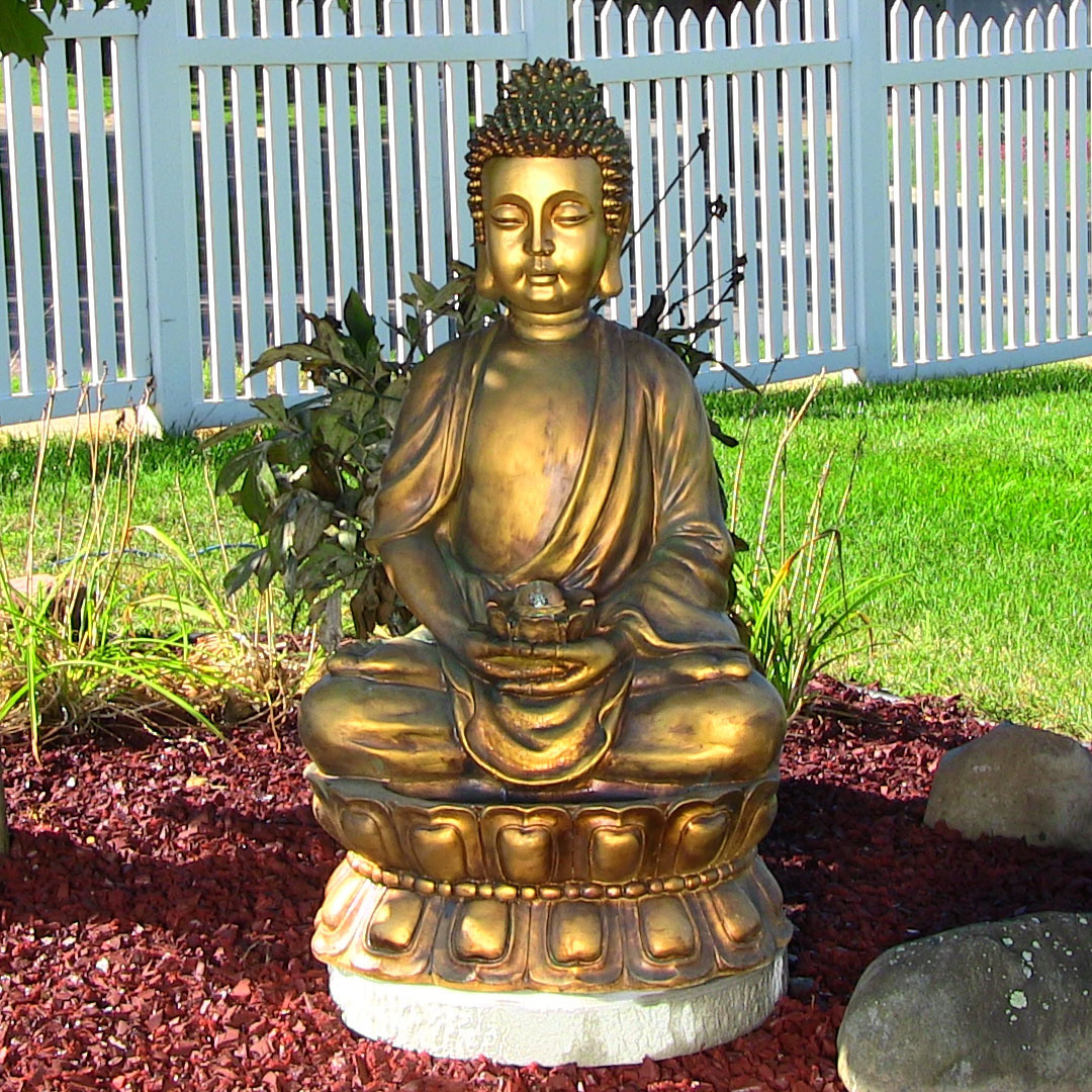 Sunnydaze Relaxed Buddha Fountain Picture 240