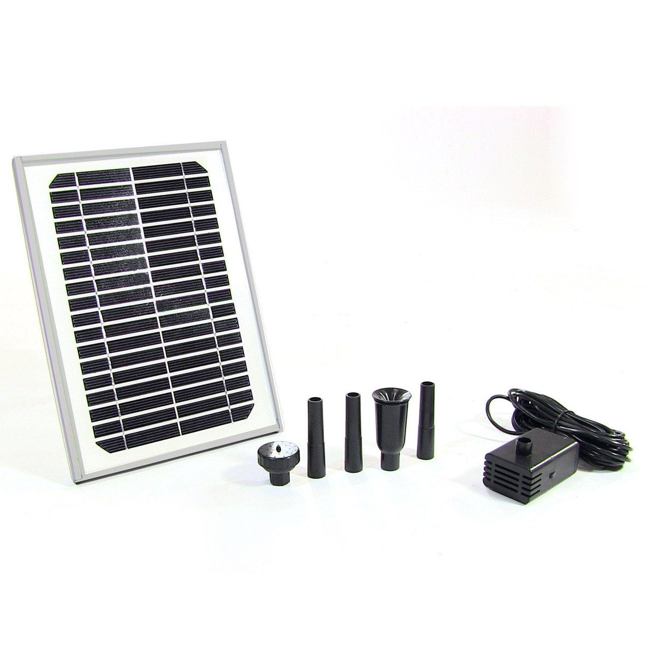 Sunnydaze 5W Solar Pump and Panel Kit Outdoor Fountain Pond, 56 Inch Lift