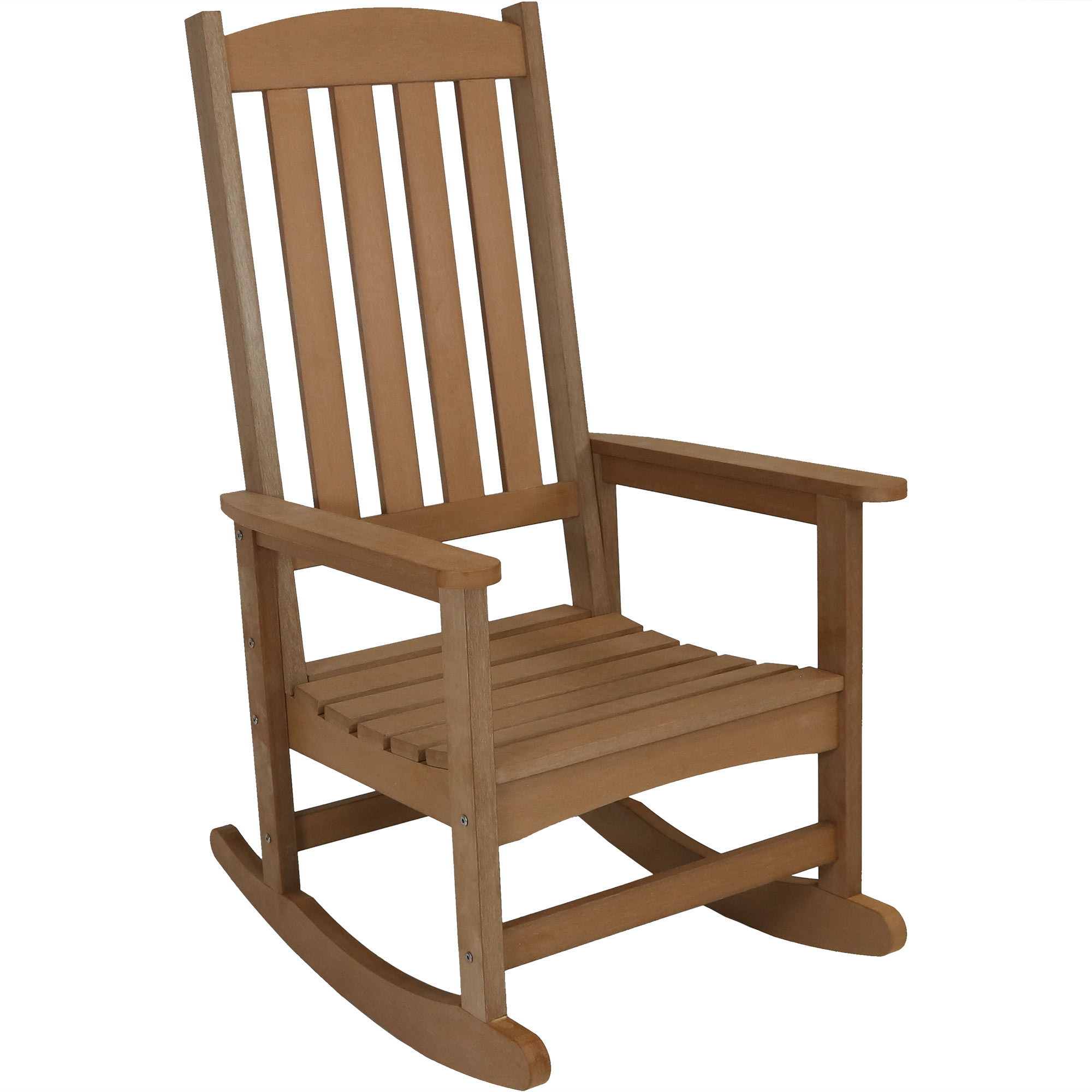 Patio Rocking Chair Faux Wood Brown Photo