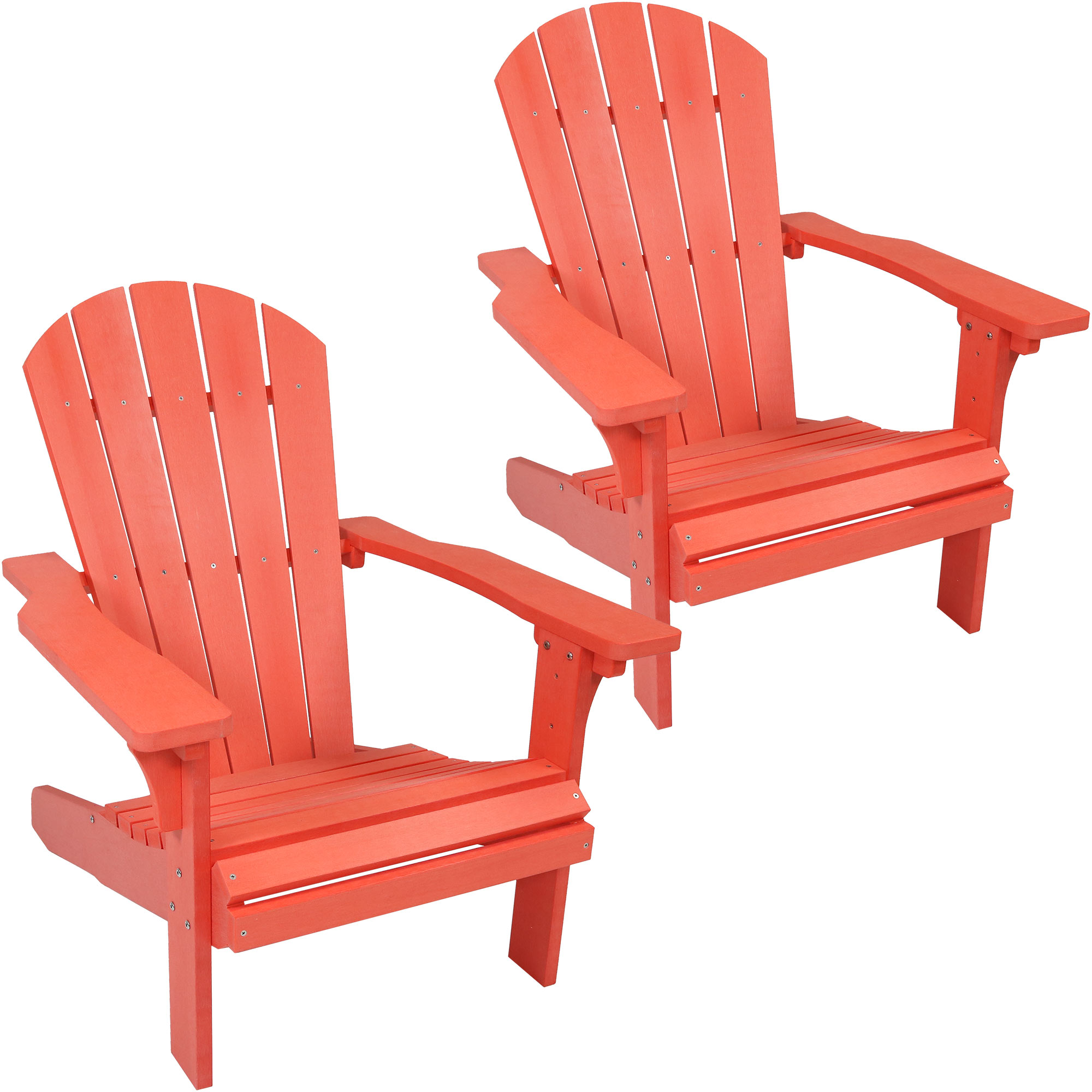 Adirondack Patio Chair Faux Wood Salmon Photo