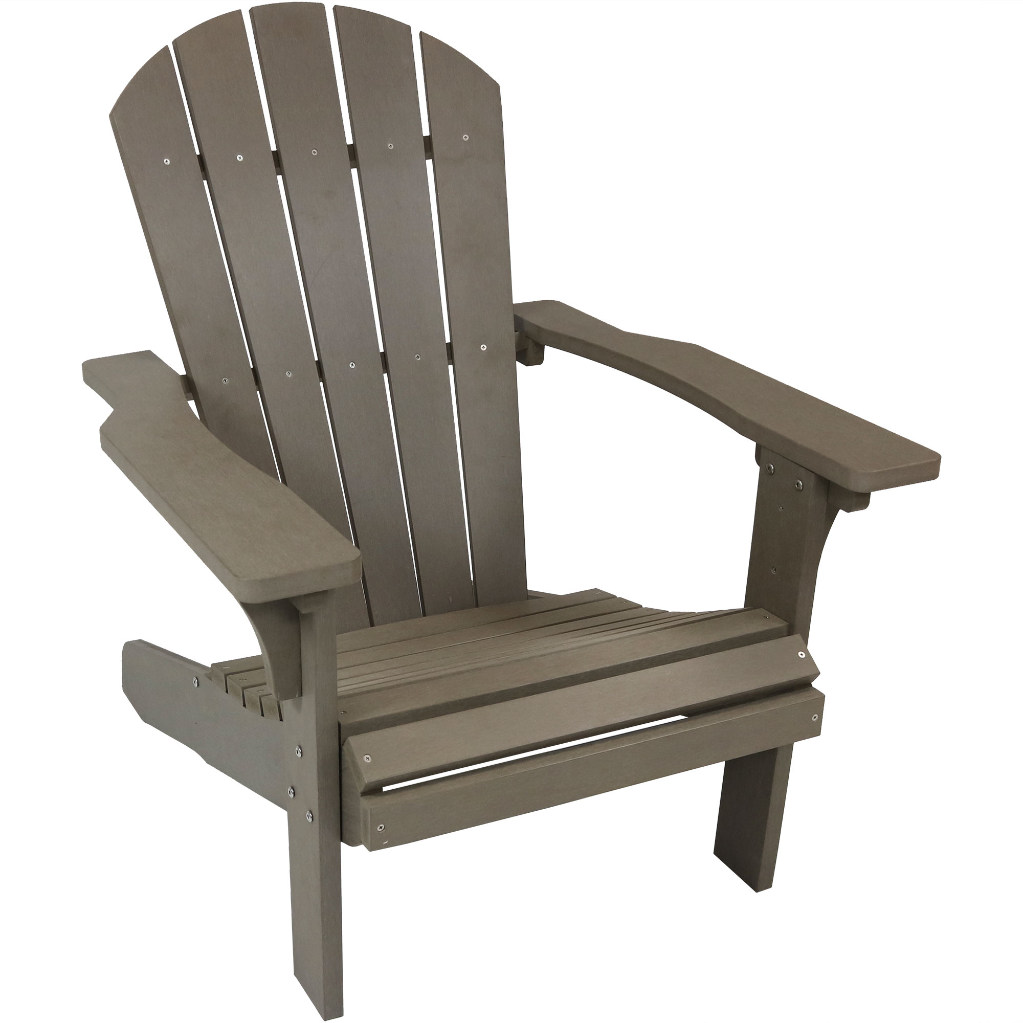 Adirondack Patio Chair Faux Wood Gray Photo