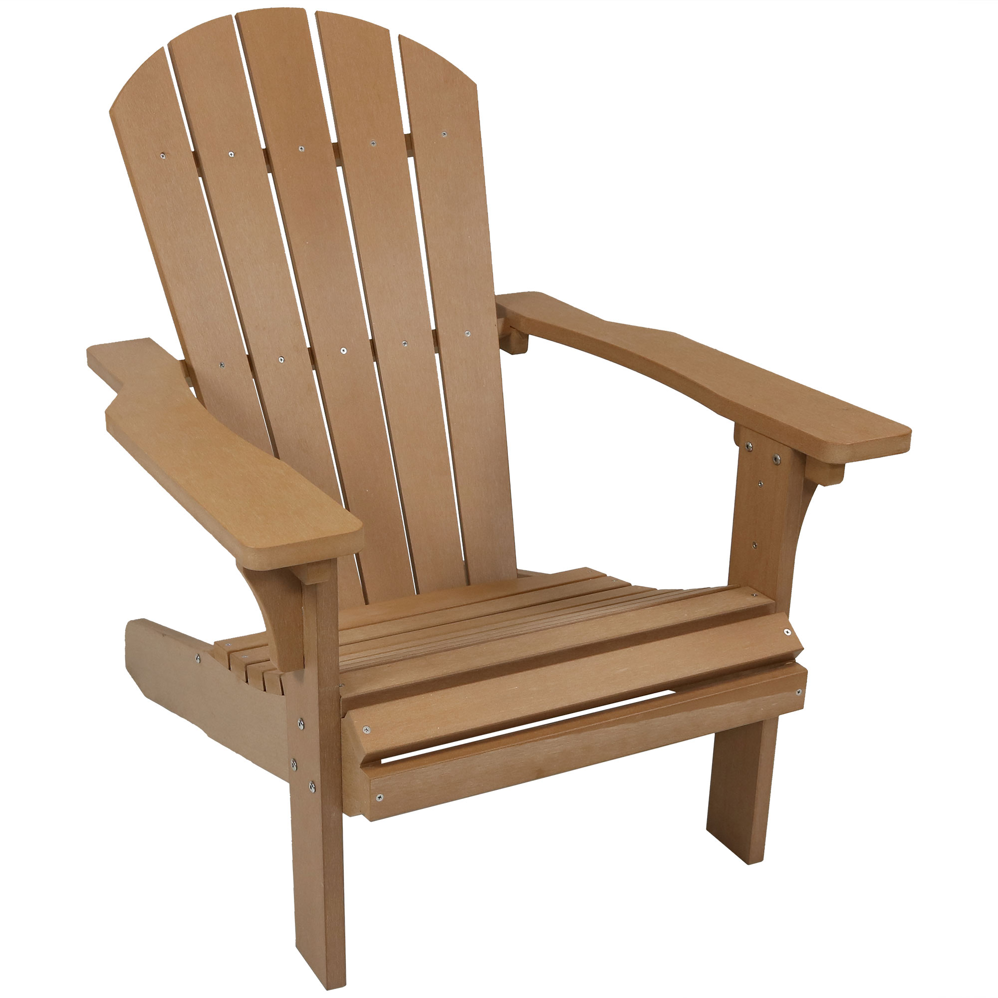 Adirondack Patio Chair Faux Wood Brown Photo