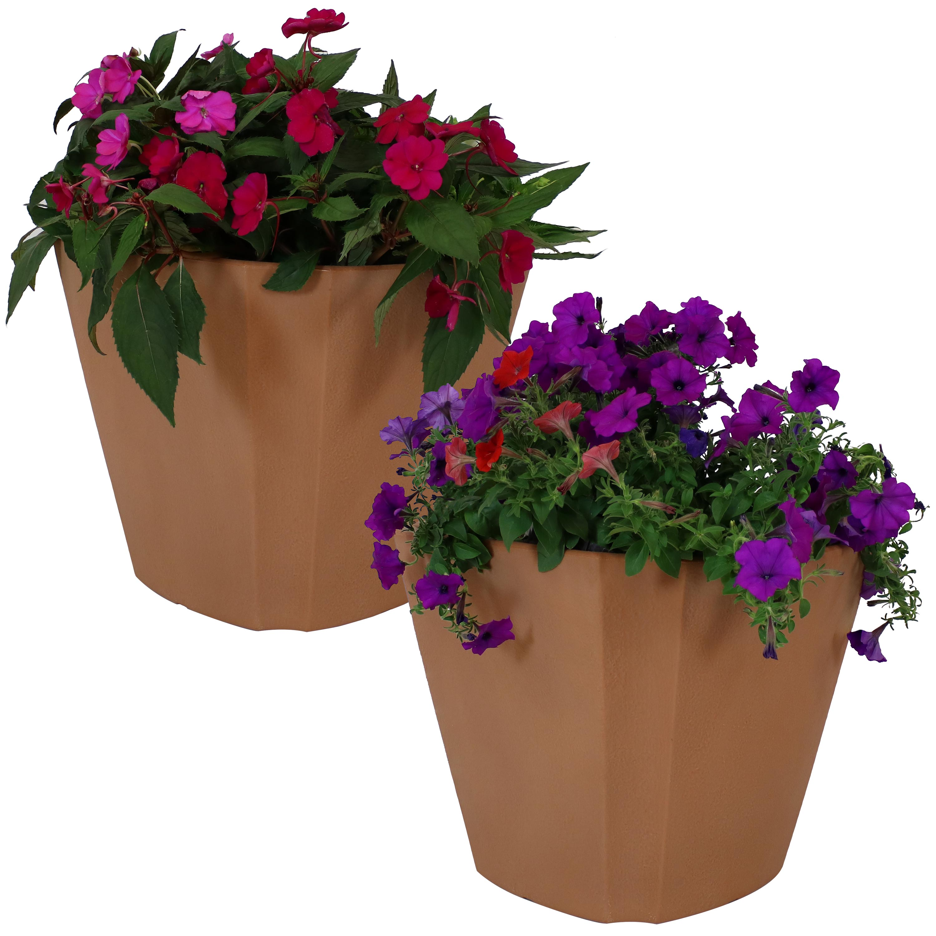 Planter Pot Double Walled Natural Clay Photo