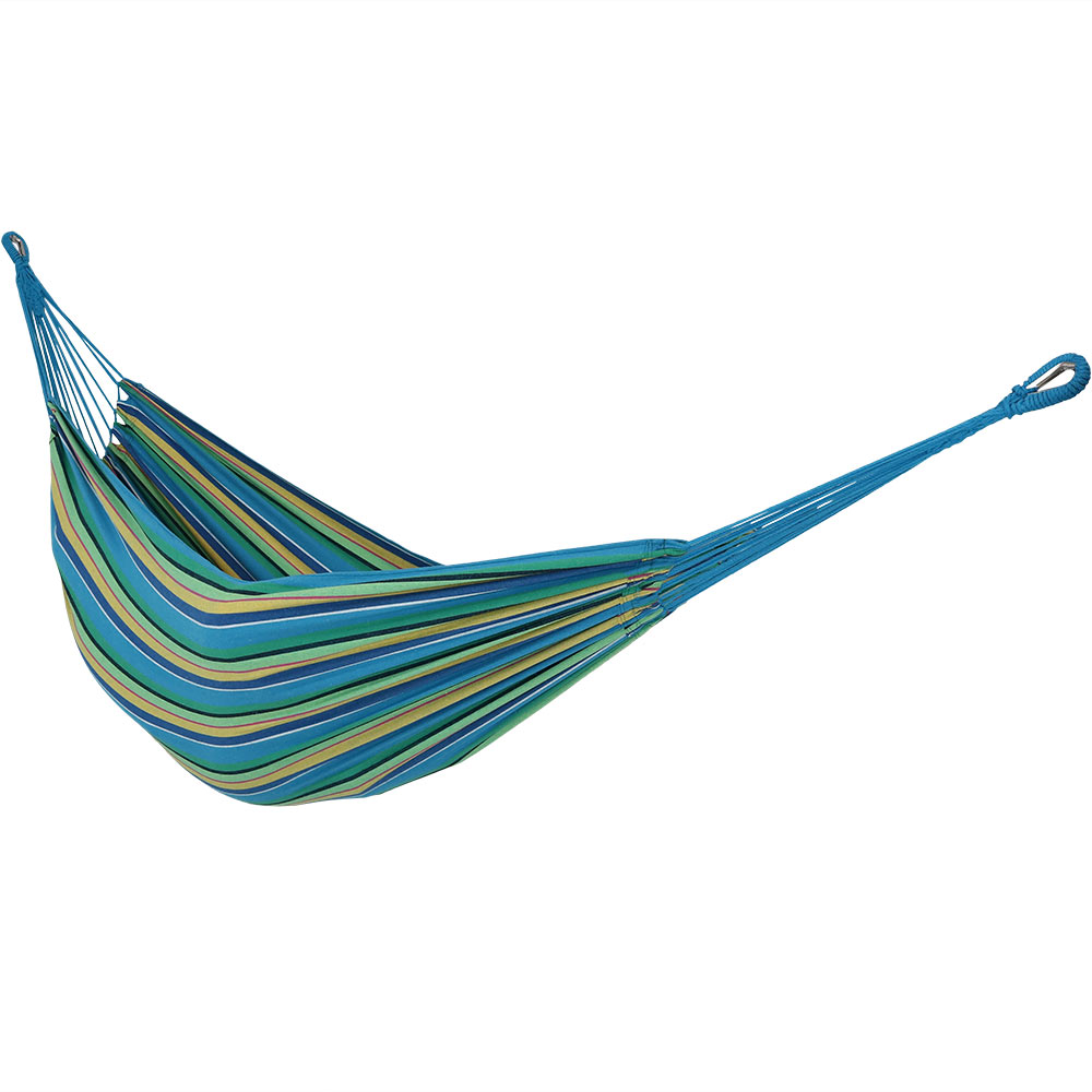 Sunnydaze Brazilian Double Hammock, 2 Person Portable Bed - For Indoor or Outdoor Patio, Yard, and Porch (Sea Grass)