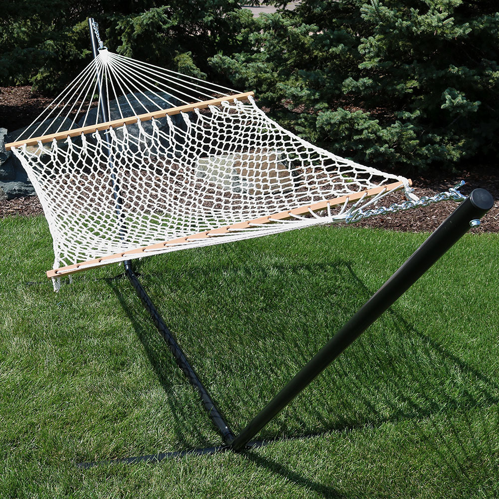 Sunnydaze Person Polyester Spreader Bar Rope Hammock Image 173