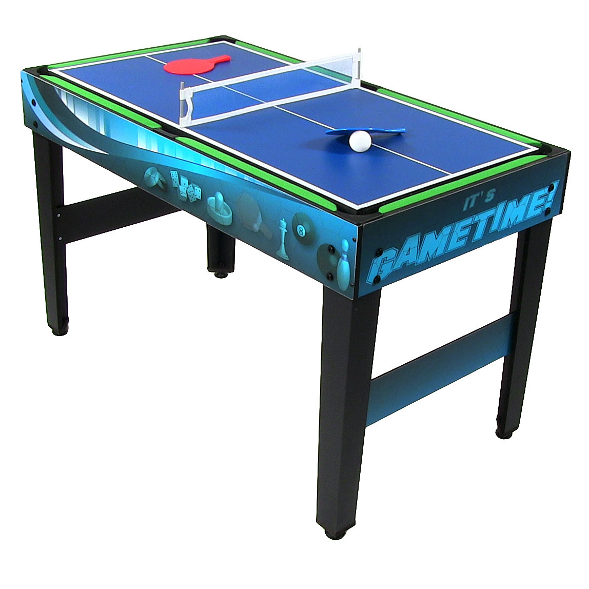 sunnydaze multi game 10 in 1 kids game table billiards