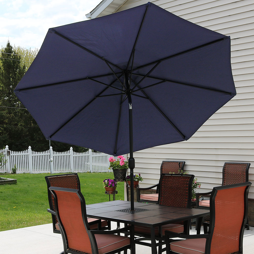 Sunnydaze Navy Blue Aluminum Foot Patio Umbrella Picture 862