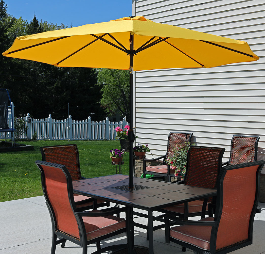 Sunnydaze Gold Aluminum Foot Patio Umbrella Picture 855
