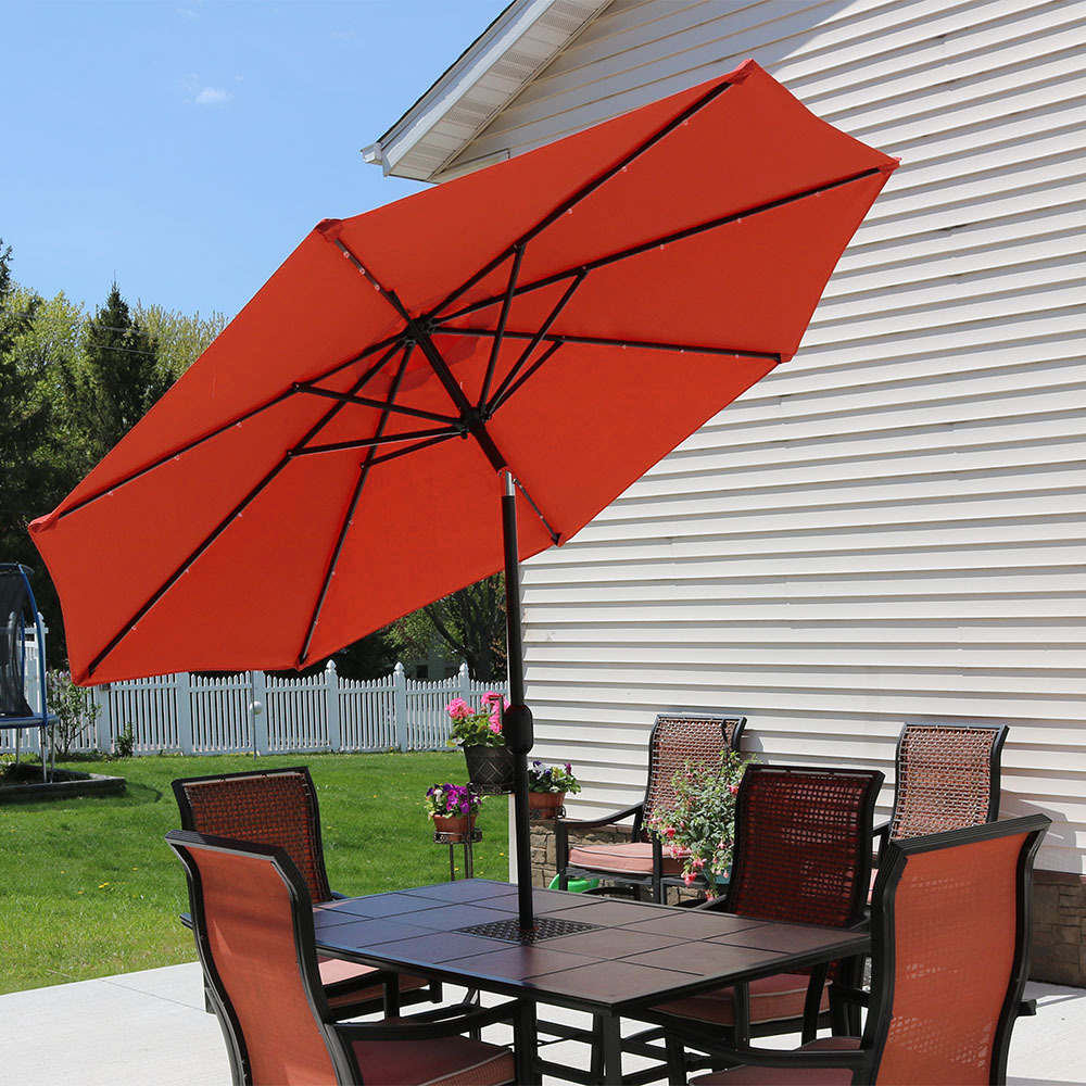 Sunnydaze Solar Powered Led Lighted Patio Umbrella Picture 728
