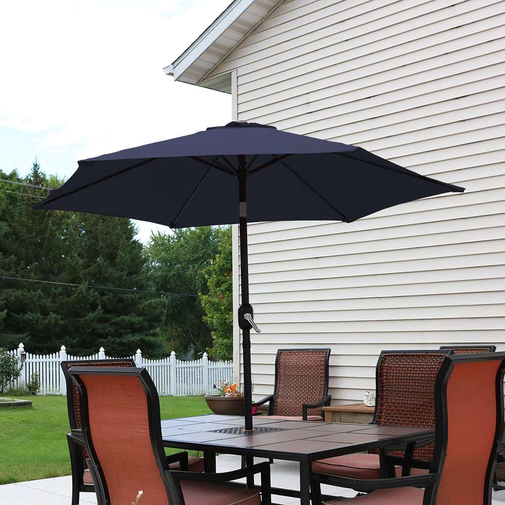 Sunnydaze Blue Aluminum Foot Patio Umbrella Picture 891
