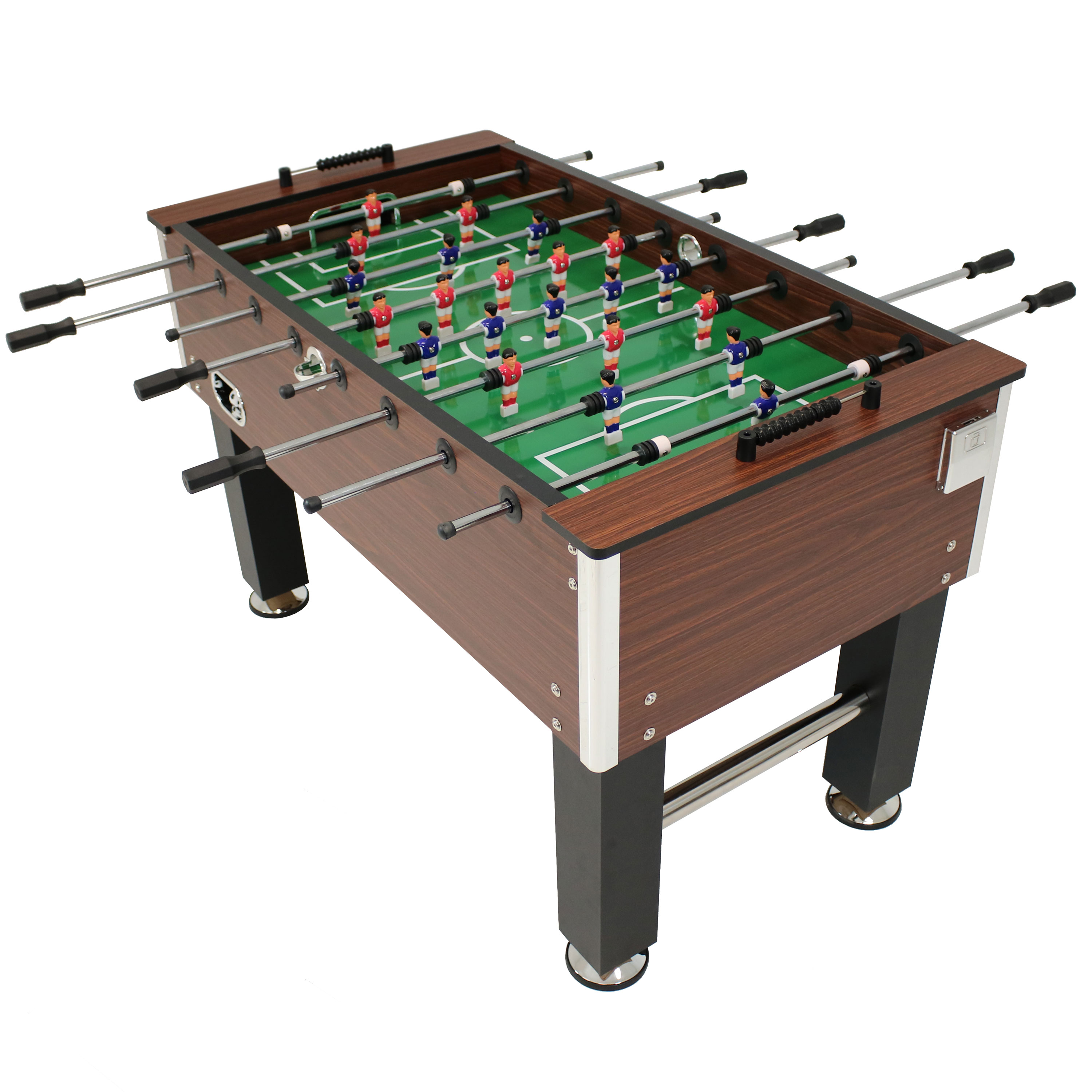 Faux Wood Foosball Table Folding Drink Holders Sports Arcade Soccer Game Room Photo