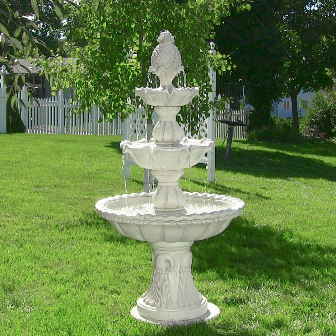 Sunnydaze Welcome Tier Garden Fountain Tall Image 736