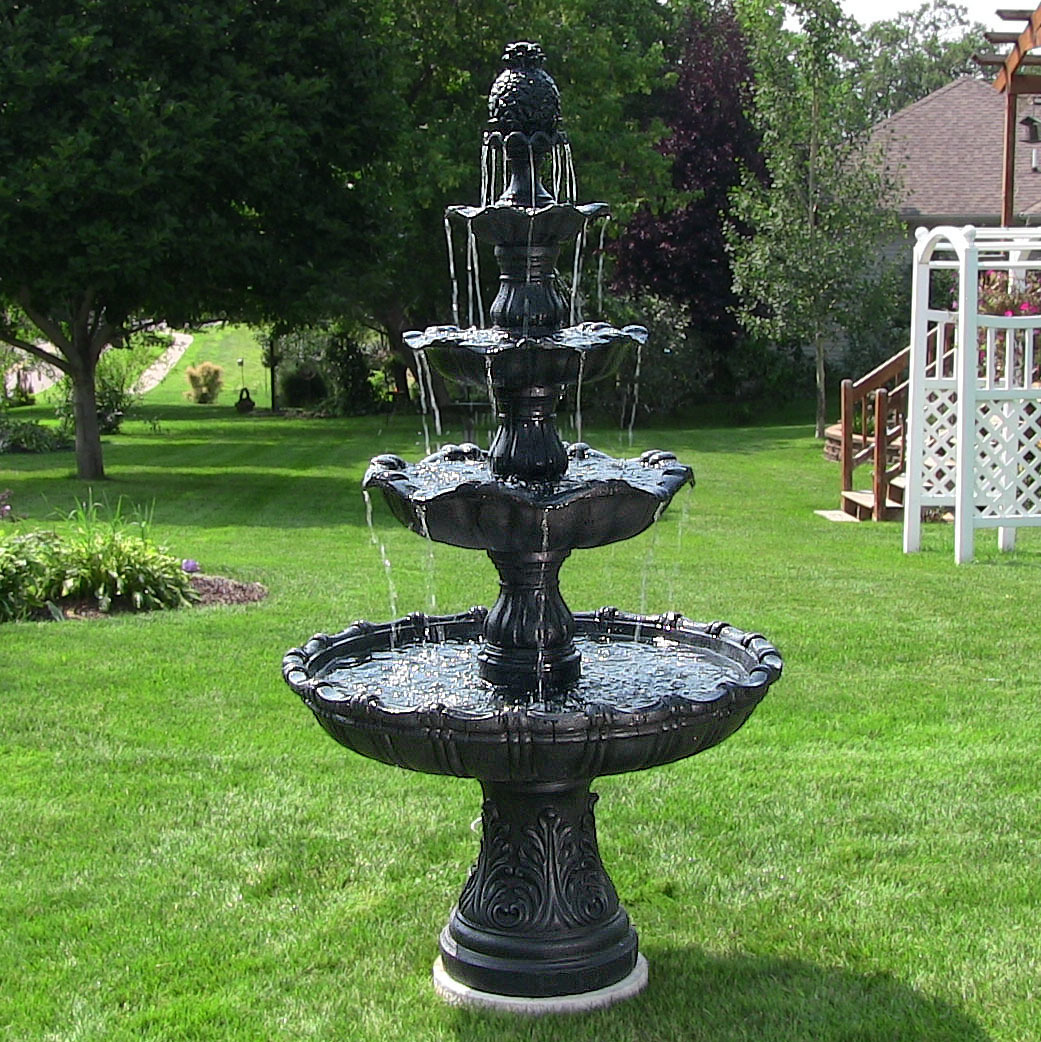 Sunnydaze Tier Grand Courtyard Outdoor Water Fountain  Picture 75