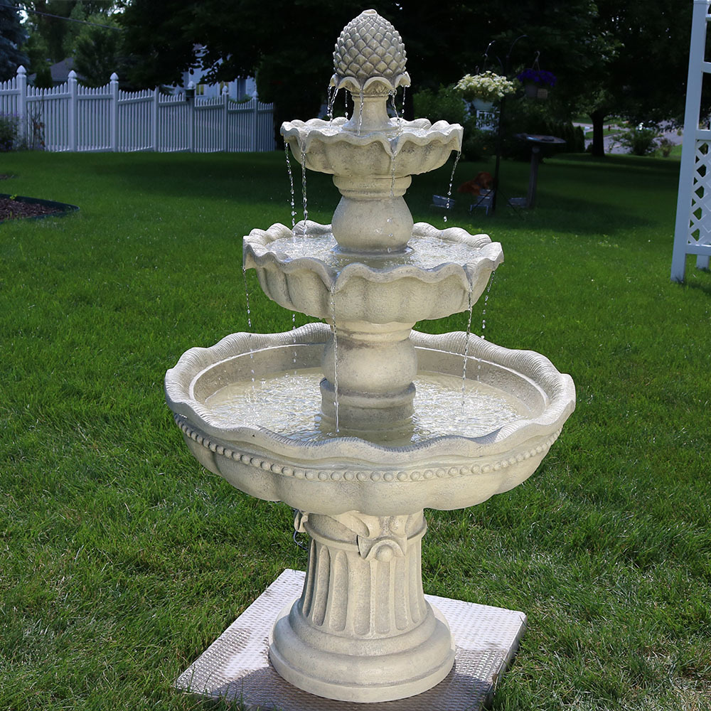Sunnydaze Tier Pineapple Garden Fountain Tall Image 138