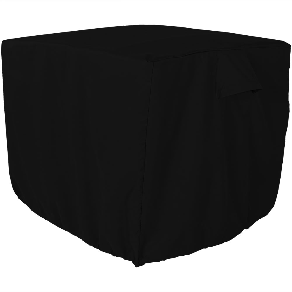 Sunnydaze Air Conditioner Cover Square, Black Outdoor AC Unit Cover, 34 Inch