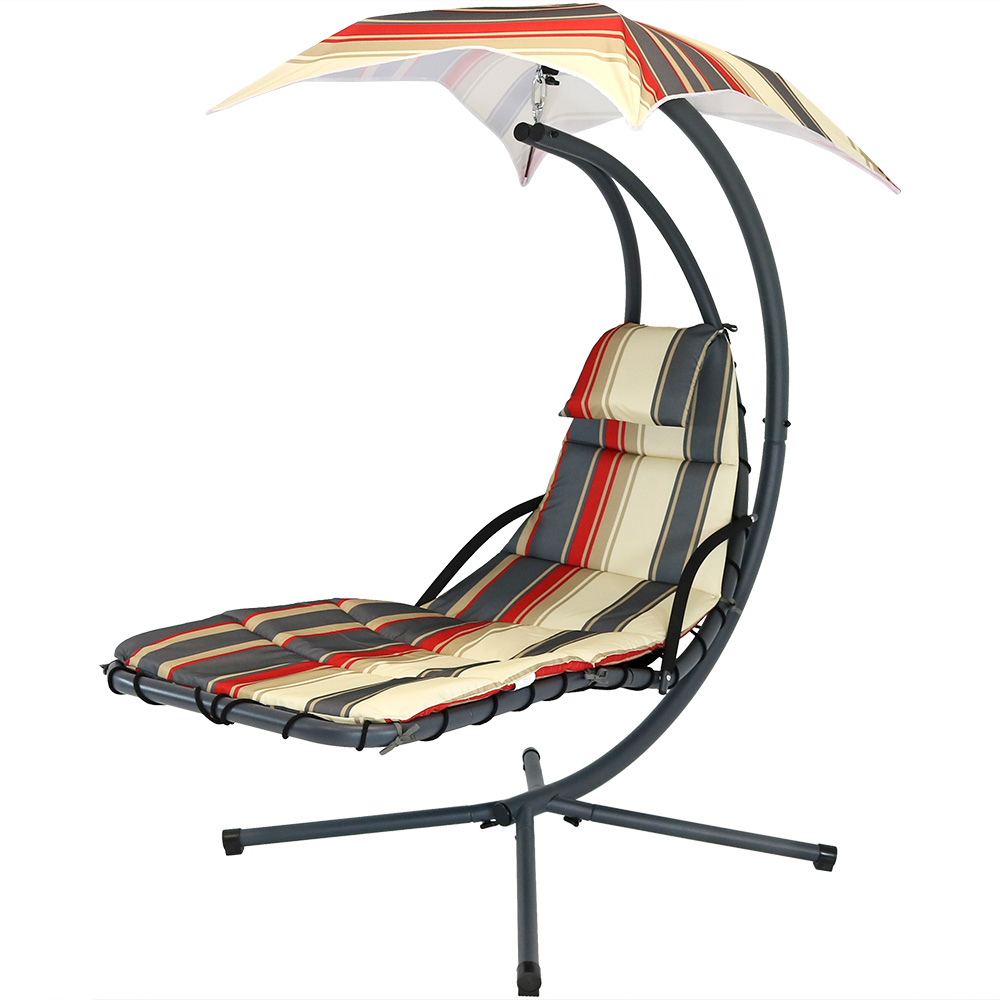 Lines Floating Chaise Lounger Swing Chair Canopy Umbrella Wide Tall Photo