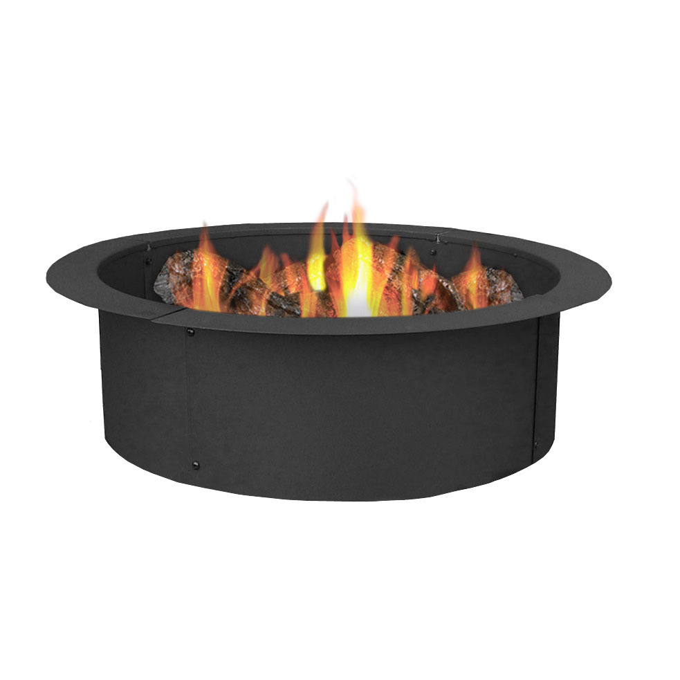 Sunnydaze Fire Pit Ring/Liner, Heavy Duty, DIY Above or In-Ground, 33 Inch Outside x 27 Inch Inside