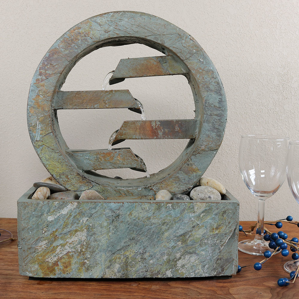 Sunnydaze Infinite Level Slate Indoor Tabletop Fountain Image 358