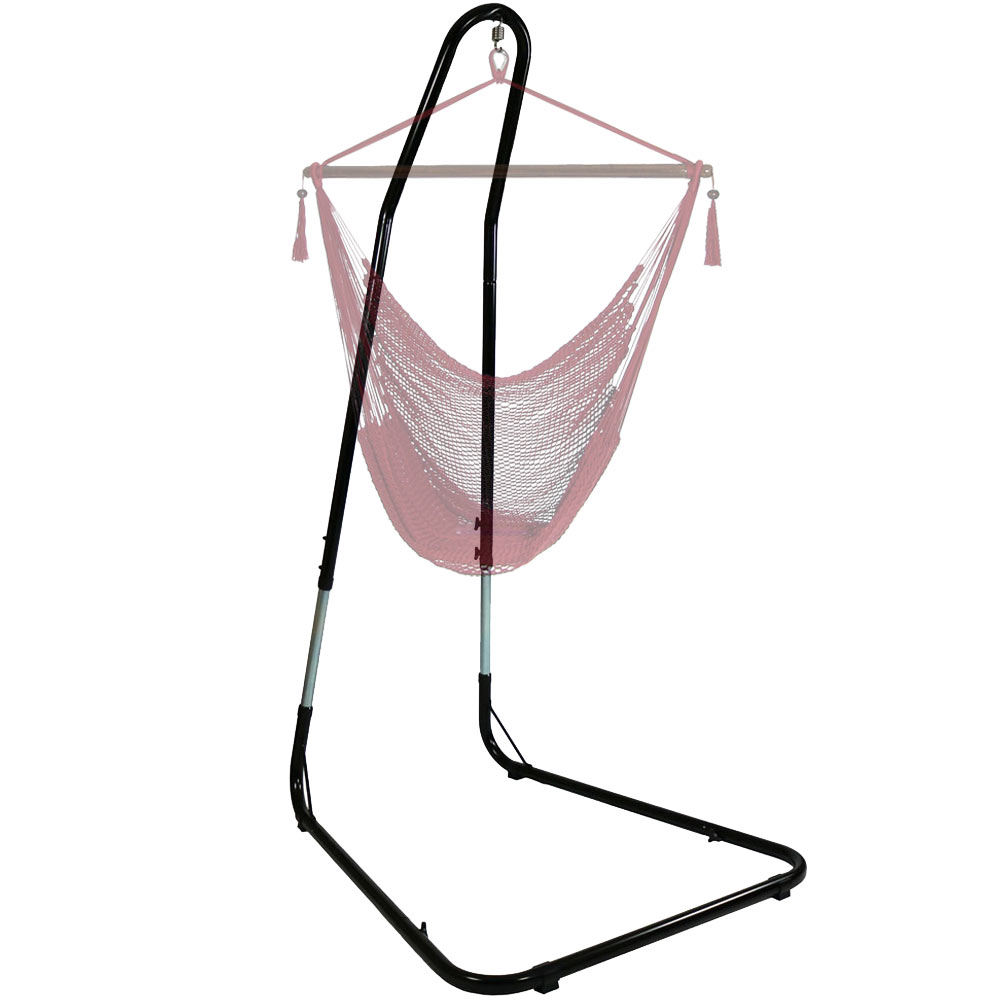 Hammock Chair Stand Hanging Chairs Swings Adjusts Between Tall Pound Photo