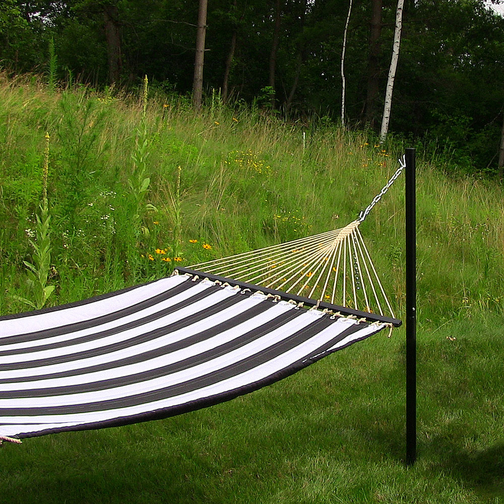 Sunnydaze Removable In Ground Hammock Post Tall Installed Picture 808