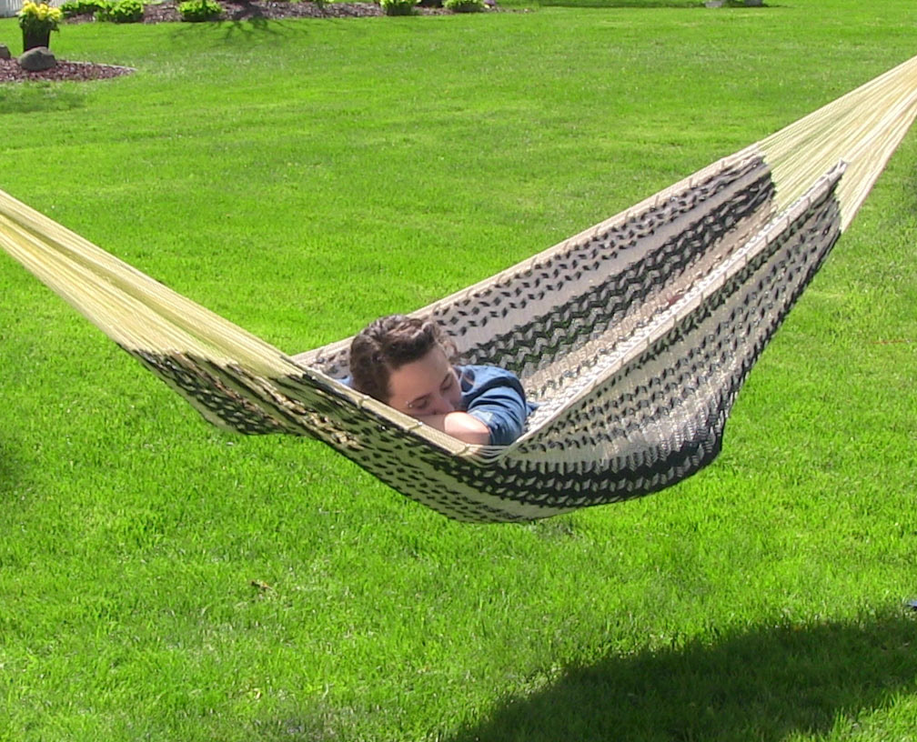 Sunnydaze Hand Woven Xxl Thick Cord Mayan Family Hammock Natural Pound Capacity Picture 743