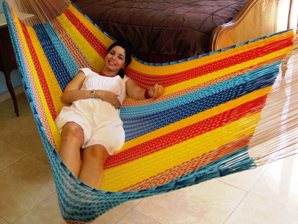 Sunnydaze Portable Hand Woven Person Mayan Hammock Matrimonial Size Multi Color Pound Capa Picture 877