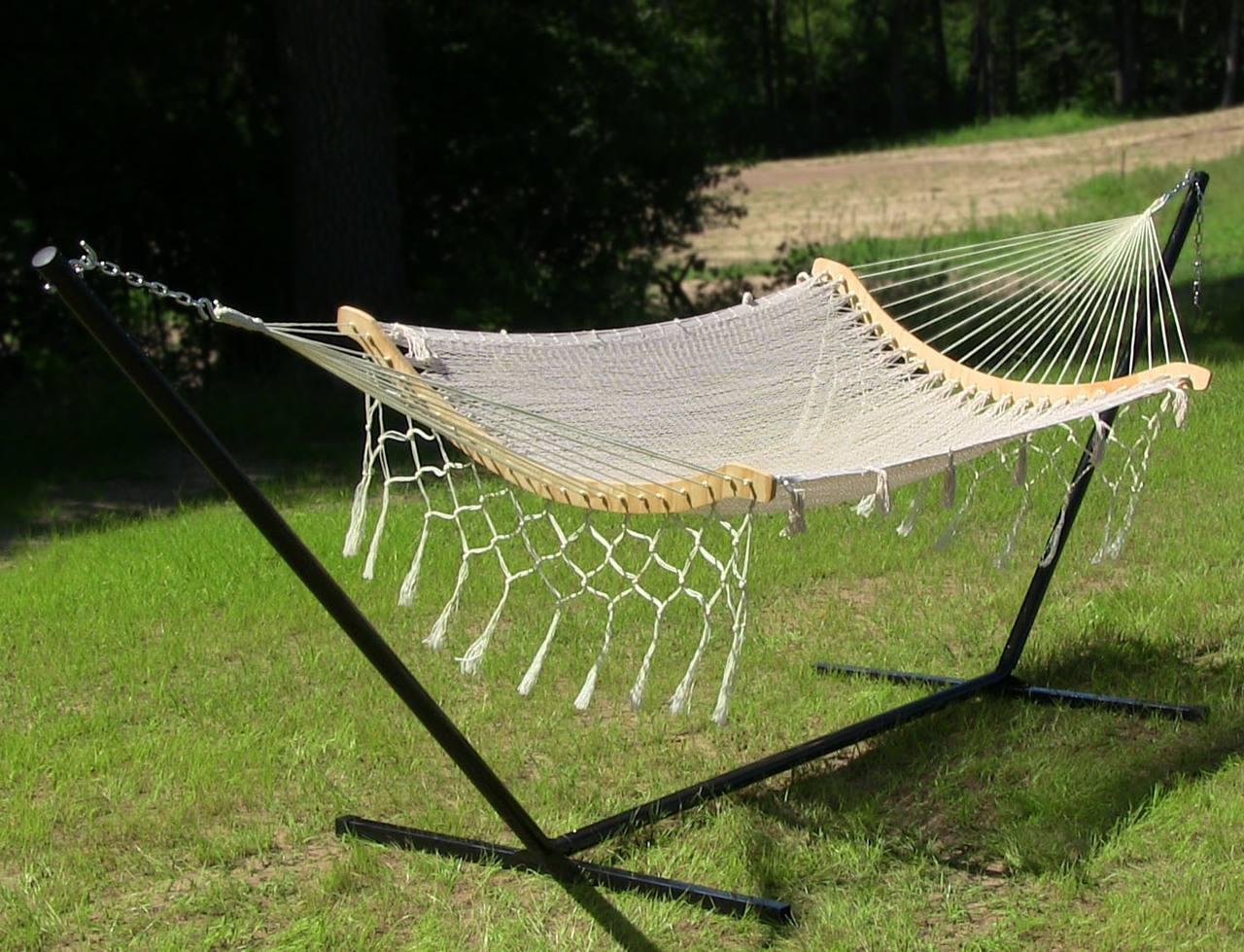 Sunnydaze Thick Cord Woven Single Person Mayan Hammock Picture 577